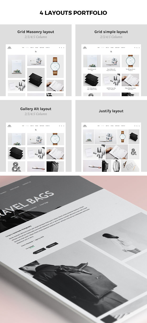 Portfolio, Agency WordPress Theme - Mountain - 2