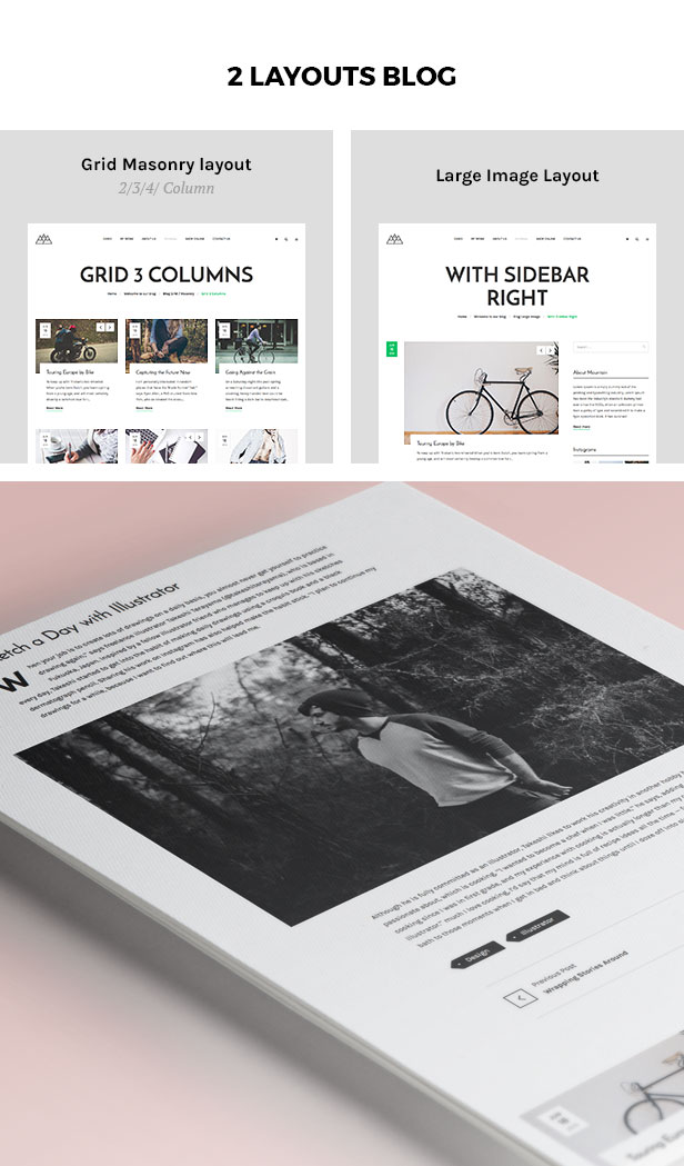 Portfolio, Agency WordPress Theme - Mountain - 3